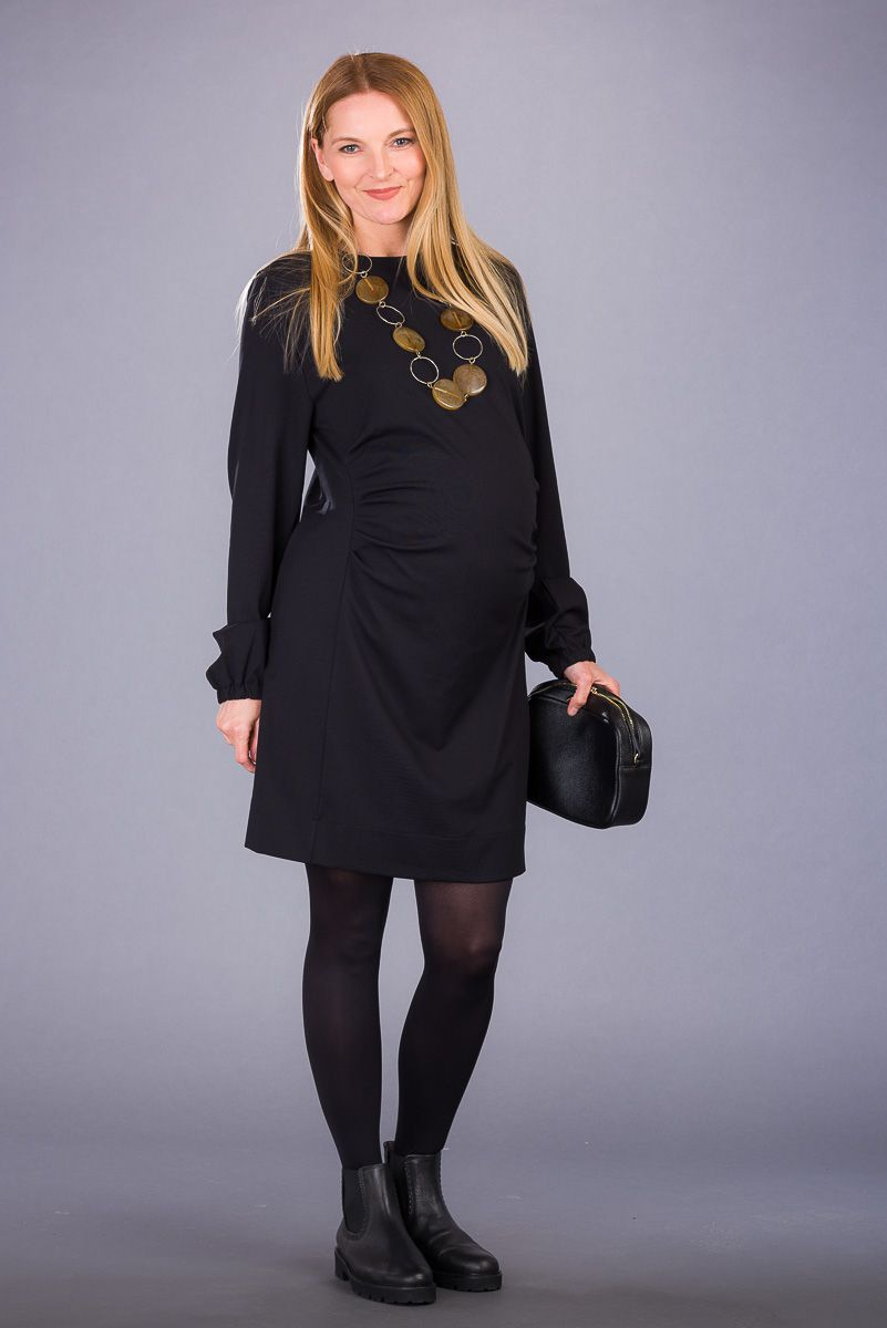 Těhotenské šaty BEBEFIELD - Madalena Black