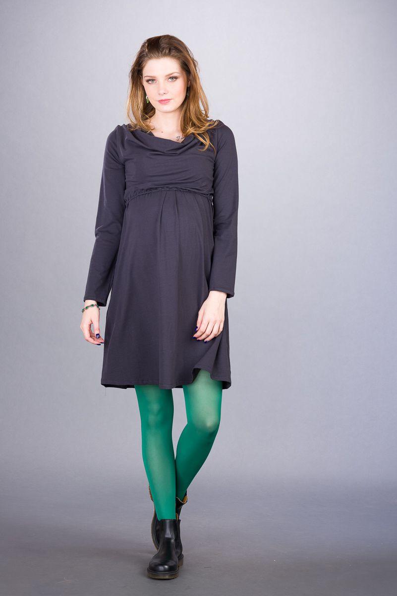 Těhotenské šaty BEBEFIELD - Sienna Grey